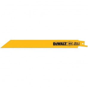 "DeWalt 8"" 18 TPI Scroll Cutting Bi-Metal Reciprocating Saw Blade (25 Pack)"