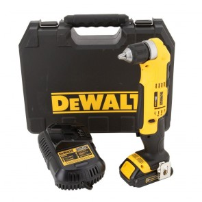 DeWalt 20V MAX Cordless Lithium-Ion Compact Right Angle Drill Kit
