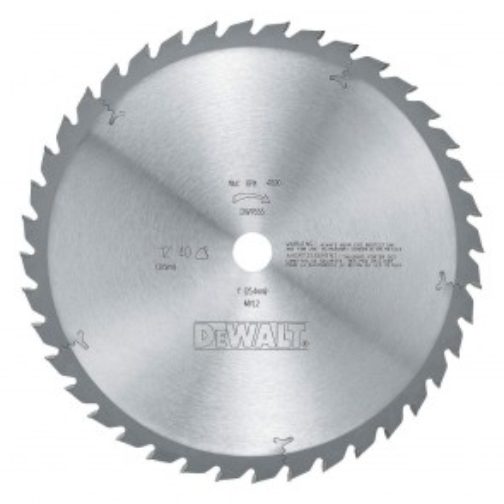 "DeWalt 12"" 40T Finish Ripping Woodworking Blade"