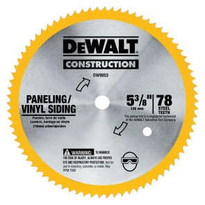 "DeWalt 5-3/8"" 80T Steel Saw Blade"