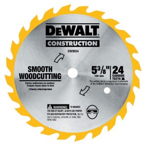 "DeWalt 5-3/8"" 24T Carbide Blade"