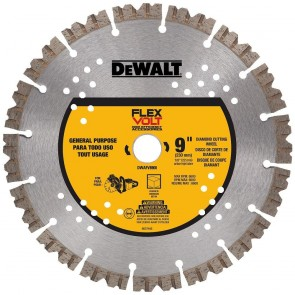 "DeWalt 9"" Flexvolt Diamond Cutting Wheel"