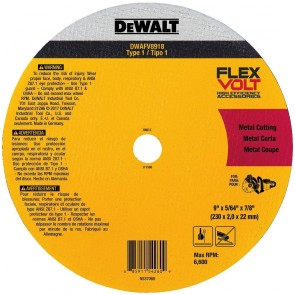 "DeWalt FlexVOLT 9"" x 5/64"" x 7/8"" Metal Cutoff Wheel"