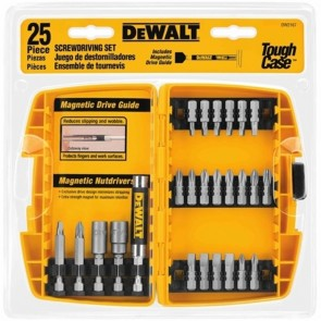 DeWalt 25-Piece Screwdriving Bit Set with Tough Case