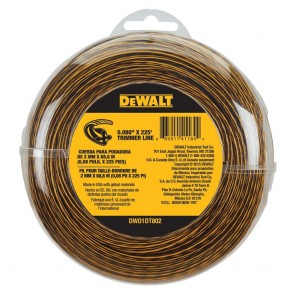 "DeWalt 0.080"" x 225 Ft Replacement Line for Cordless String Trimmer/ Lawn Edger"