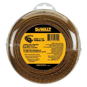 "DeWalt 0.095"" x 144 Ft Replacement Line for Cordless String Grass Trimmer/ Lawn Edger"