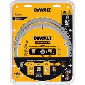 DeWalt 2-Piece 10 in. Series 20 Circular Saw Blade Combo Pack