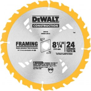 DeWalt 8-1/4 in. 24T Carbide Framing Circular Saw Blade