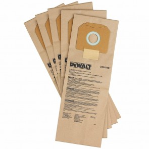 DeWalt Paper Bag for DWV012 Dust Extractor, 5-Pack