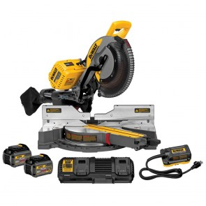 DeWalt 120V MAX FlexVolt Cordless Lithium-Ion 12 in. Sliding Compound Miter Saw Kit with Batteries and Adapter