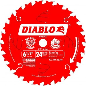 Diablo 6-1/2 in. x 24 Tooth Framing Trim Saw Blade