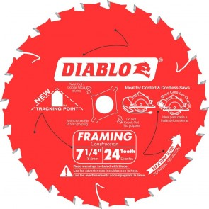 Diablo 7-1/4 in. x 24 Tooth Wormdrive Framing Saw Blade