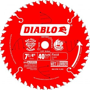 Diablo 7-1/4 in. x 40 Tooth Finish Saw Blade