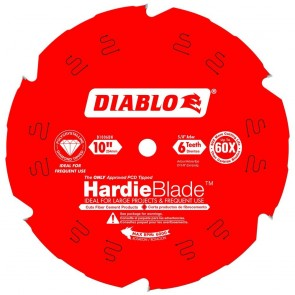 Diablo 10 in. x 6 Tooth Fiber Cement