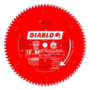 Diablo 10 in. x 80 Tooth Medium Aluminum Saw Blade