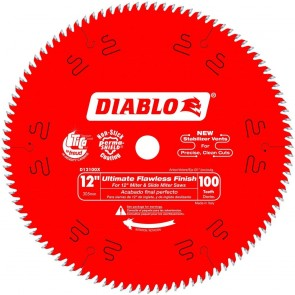 Diablo 12 in. x 100 Tooth Ultimate Polished Finish Saw Blade