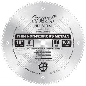 "Freud 10"" Thin Stock Non-Ferrous Metal Blade"