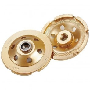 """Diamond Products 7"""" Standard Gold Double Row Segmented Cup Grinder"""