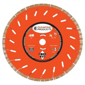 "Diamond Products 5"" x .080 Heavy Duty Orange High Speed Turbo Blade"
