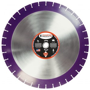 "Diamond Products 18"" X .125 X 1"" Imperial Purple Wet Cured Concrete Blade"
