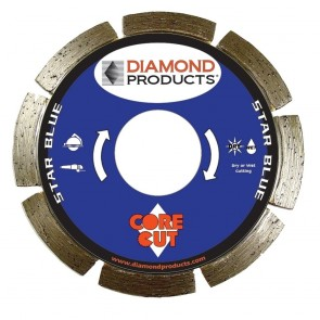 "Diamond Products 4-1/2"" x .070 Star Blue Small Diameter Segmented Blade"