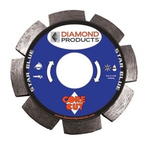 "Diamond Products 4-1/2"" x .375 Star Blue 3-in-1 Circular Saw Blade"