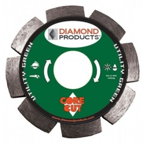 "Diamond Products 4-1/2"" x .375 Utility Green 3-in-1 Circular Saw Blade"