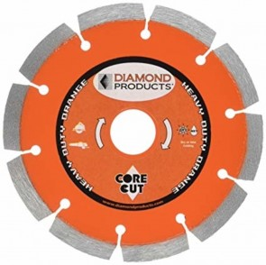 "Diamond Products 5"" x .080 Heavy Duty Orange Small Diameter Segmented Blade"