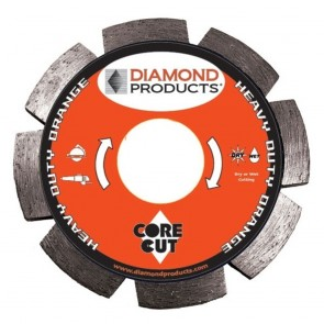 "Diamond Products 5"" x .250 Heavy Duty Orange Circular Saw Blade"