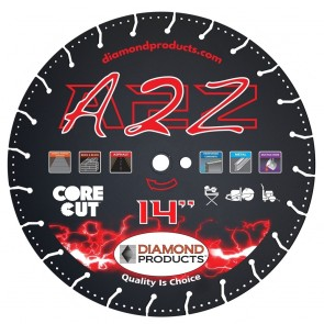 """Diamond Products 4-1/2"""" x .080 A2Z Vacuum Bonded High-Speed Specialty Blade"""