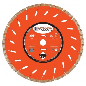 "Diamond Products 14"" x .125 Heavy Duty Orange High Speed Turbo Blade"