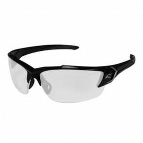Edge Eyewear Khor G2 Black Frame Safety Glasses with Clear Lens