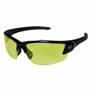 Edge Eyewear Khor G2 Black Safety Glasses with Yellow Lens