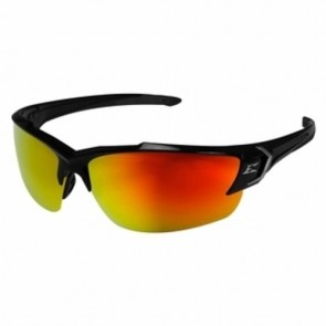 Edge Eyewear Khor G2 Black Aqua Red Mirror Lens Safety Glasses