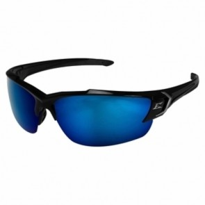 Edge Eyewear Khor G2 Black Polarized Aqua Blue Safety Glasses