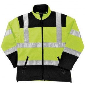 ERB Class 2 Soft Shell Jacket, X - Large, Hi-Viz Lime