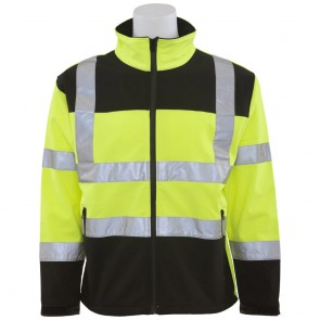 ERB Class 2 Soft Shell Jacket, 2X-Large, Hi-Viz Lime