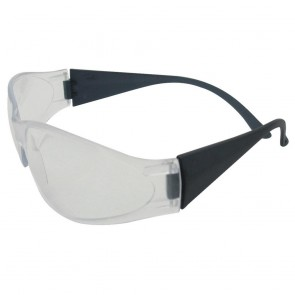 ERB Boas Safety Glasses with Smoke Frame and Clear Lens