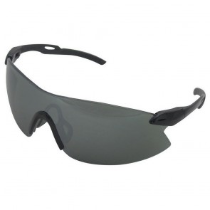 ERB Striker Safety Glasses with Black - Silver Temple and Gold Mirror Lens