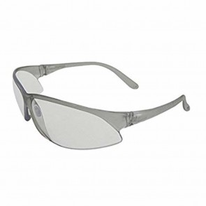 ERB Superbs Safety Glasses with Clear/Silver Temple and Gray Lens