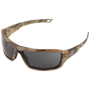 ERB Live Free Safety Glasses with Camo Temple and Gray Lens