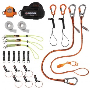 Ergodyne Squids Carpenter & Laborer's Tool Tethering Kit