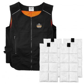 Ergodyne Chill-Its® 6260 Lightweight Phase Change Cooling Vest with Packs (S/M)