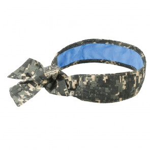 Ergodyne Chill-Its® 6700CT Evaporative Cooling Bandana with Cooling Towel - Tie (Camo)