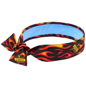 Ergodyne Chill-Its® 6700CT Evaporative Cooling Bandana with Cooling Towel - Tie (Flames)