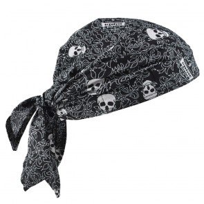 Ergodyne Chill-Its® 6710 Evaporative Cooling Triangle Hat: Skulls