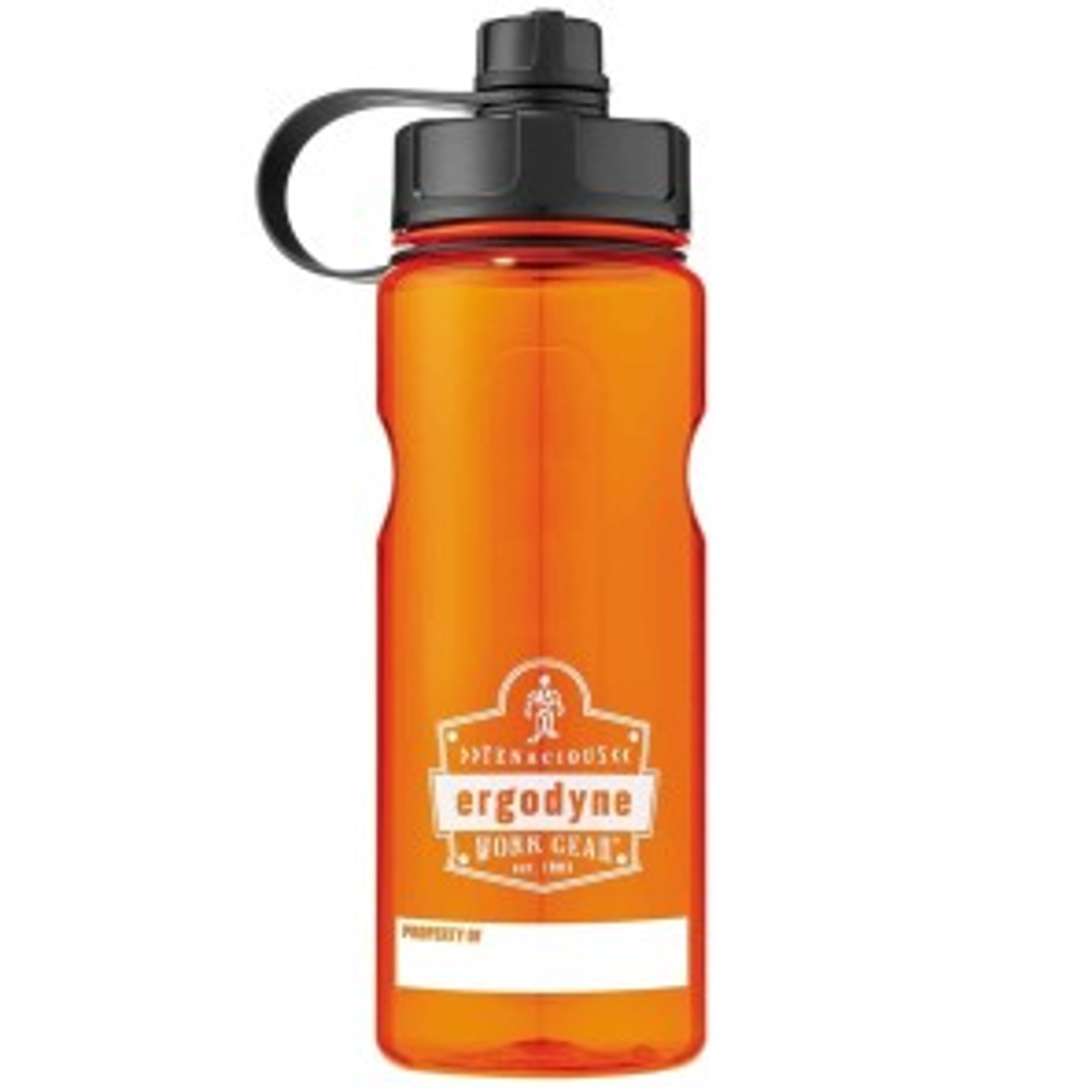 Ergodyne Chill-Its® 5151 BPA-Free Water Bottle - 34oz / 1000ml (Orange)