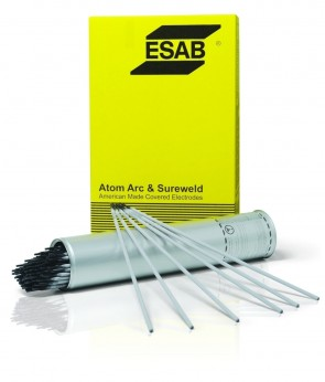 "ESAB 1/8"" X 14"" E7018 AtomArc® Carbon Steel Electrode 10 lb Hermetically Sealed Can"