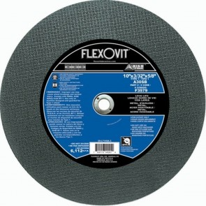 "Flexovit 10"" x 3/32"" x 5/8"" A30SB - Long Life Reinforced Chopsaw Cutoff Wheel"