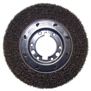 "Flexovit 10""x1-1/2""x3/4"" .014 CARBON CRIMPED Wire Wheel Brush for Bench Grinders"